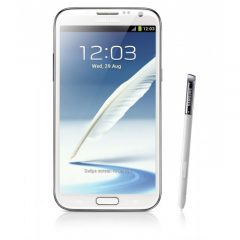 Samsung Galaxy Note 2 Glasbyte